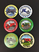 6 Metal Pinbacks Power Of Past Collectors Nh Antique Tractor Me Steam Assoc