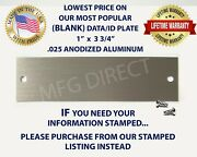 Serial Data Vin Id Plate Blank Model Number Tag Ford Dodge Toyota Buick Honda