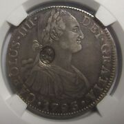 Ngc-xf45 1797-99 Great Britain S1 Oval C/s On Mexico 8r 1793mo Fm Silver Rare