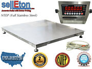 Ntep 36 X 36 3and039 X 3and039 Floor Scale Fixed Top Stainless Steel Washdown 5000 Lbs
