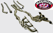 Maximizer Long Tube Header X-pipe For 09-14 Cadillac Cts-v 6.2l V8 Catted