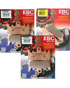 Ebc Hh Front+rear Brake Pads 3 Sets 2013-17 Canam Spyder Rs Rt Fa630hh Fa631hh