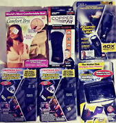 As Seen On Tv Lot Of 6 Items Lighters / Flashlight / Knee Sleeve / Wallet And Bra