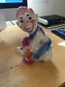 Shawnee Pottery Howdy Doody On Pig Piggy Bank - Mint Condition - Vintage
