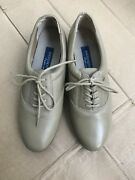 Easy Spirit Motion Anti Gravity Beige Leather Oxfords Lace Up Shoes Size 6n