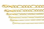 Brand New 14k Yellow Gold 2mm-7.5mm Figaro Link Chain Necklace 16 - 30