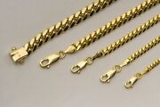 Solid 10k Yellow Gold Miami Cuban Link Necklace Chain 2mm-6mm Sz 20-30