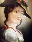 Rubens Portrait Of Susanna Fourment Antique Old Master Oil Painting.