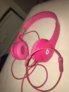 Beats By Dr. Dre Solo Hd Used Headphones - Pink