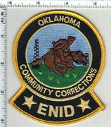 Enid Community Corrections Oklahoma 1st Issue Shoulder Patch