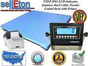 Ntep Legal 60 X 60 Floor Scale Industrial Warehouse And Printer 5000 X 1 Lb.