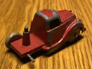 1930and039s Hubley Diecast Tow Truck Original Red Paint And Rubber Wheels Usa 3.5 In