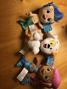 New W/tags, Hard To Find Authentic Bubble Guppies Plush Set