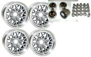 Trans Am 15x8 Snowflake Wheel Kit-silver-stainless Center Caps And New Lug Nuts