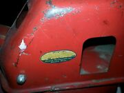 Vintage 1950s Tonka Red Steam Shovel With Original Paint And Decals