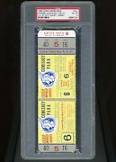1959 World Series Game 6 Full Ticket Psa 4 Los Angeles Dodgers 1st Title