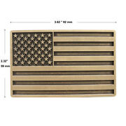 Vintage Bronze Style American Us Flag Rectangle Belt Buckle Also Stock In Us