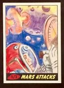 Topps Mars Attacks Sketch Card 2012 Lark Sudol Signed One Of A Kind