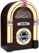 Clearclick Jukebox Bluetooth Speaker Lights Aux-in Retro Style Handmade Wooden