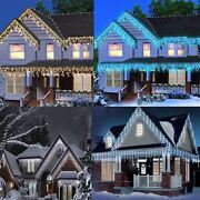 Christmas 960 Led Worm White And Blue Icicle Snowing Chaser Lights In And Outdoor