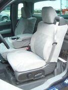2004-2008 Ford Truck F150 Xcab Front Exact Seat Covers 40/20/40 In Gray Twill