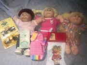 Cabbage Patch Doll Lot, Original Dolls, Outfits, Stocking, Sunglasses