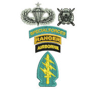 Special Forces Ranger Airborne Combat Diver Jump Wings Embroidered Polo Shirt