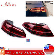 4x Rear Led Taillights Tail Light Lamp Fit For 2017-2018 Vw Gti R Golf 7.5 7 Mk7
