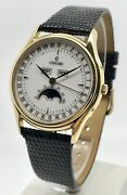 Concord Classic Complete Calendar Moonphase 1138675 18k Yg Menandrsquos Watch 34mm Bandp