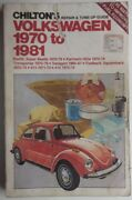 1970-1981 Chiltons Volkswagen Beatle Karmann Ghia Vanagon Repair And Tune-up Guide