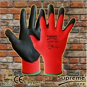 240 Pair 100 Nitrile Coated Palm Nylon Builders Safety Work Gloves Construction
