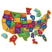 Kids Us Map Magnetic Puzzle 45pc Play Activity Toddler Learning Geography Fridge