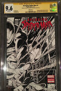 Avenging Spider-man 1 Sketch Cover Cgc Ss 9.6 Signed Stan Lee And Joe Quesada