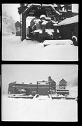 Roundhouse In Snow Railroad Steamtown Bellows Falls Nh Photo Negatives 16