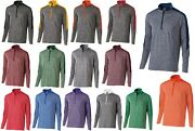 Menand039s Snowy Heather Performance Long Sleeve 1/2 Zip Pullover Wicking S-5xl