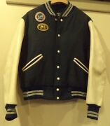 Vintage Buick Club Of America Antique Automobile Leather Wool Varsity Jacket Md