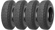 4 Four 8-14.5 St New Trailer Tire 14 Ply Heavy Duty Tubeless 14 Ply Rated G L