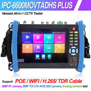 4k 7in Wifi Dmt Vfl Tdr Poe Cctv Security Camera Tester Ipc-8600movtadhs Plus