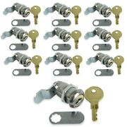Leisure Cw 10 Pack 1 1/8 Rv Compartment Door Cam Lock With Ch751 Key