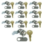 Leisure Cw 10 Pack 7/8 Rv Compartment Door Cam Lock Latch With Ch751 Key