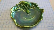 Large Zsolnay Iridescent Eosin Dish With Lobster