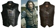 Menand039s Hell On Wheels Celebrities Looks Cullen Bohannan Real Leather Vest