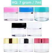 Beauticom 7 Gram High Quality Thick Acrylic Plastic Sample Containers Bpa Free