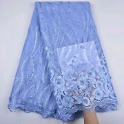 African Fabric Swiss Voile Wedding Lace Fabric Polished Cotton Wedding 5yards