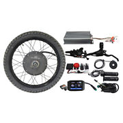 48-72v 100a 3000w-5000w Ebike Conversion Kit 19 Motorcycle Rim Rear Wheel 24and039and039