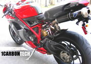 Ducati 848 1098 1198 Evo Carbon Fiber Front Side Fairings And Tail Cowl Kit