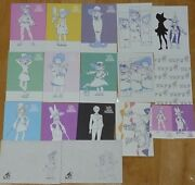 Little Witch Academia Characters 14 Post Card 2 Envelope 2 Business Card Set