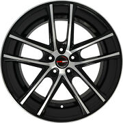 4 Gwg Zero 22 Inch Black Machined Rims Fits Ford Explorer 4wd 2000 - 2001