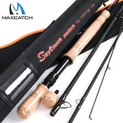 Maxcatch Two-handed Switch And Spey Fly Rods Fast Action Fly Fishing Rod With Tube
