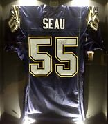 Junior Jr. Seau Team Issued Signed Chargers Pro Nfl Game Jersey Nfl/psa Football